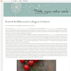 Purée de lentilles corail & aubergine à l'indienne