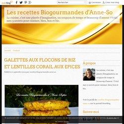 GALETTES AUX FLOCONS DE RIZ ET LENTILLES CORAIL AUX EPICES - Les recettes Biogourmandes d'Anne-So