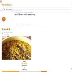 Lentilles corail au curry : Recette de Lentilles corail au curry