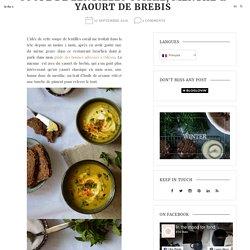 Soupe de lentilles corail, menthe fraîche & yaourt de brebis