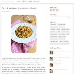Curry de lentilles corail, poivrons et petits pois