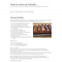 Dans la cuisine de Nathalie...