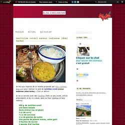 Lentilles corail saveur indienne (dhal tarka)