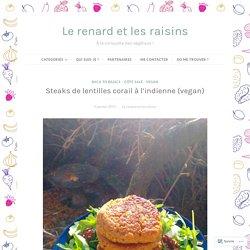 Steaks de lentilles corail à l'indienne (vegan) – Le renard et les raisins