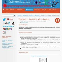 Chapitre 1 : Lentilles, œil et images - Physics4geeks.fr