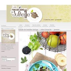 Salade de lentilles beluga ~ céleri branche ~ pomme... - Les recettes de Juliette