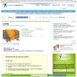Les lentilles : riches en fibres alimentaires
