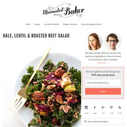 Kale Salad with Beets and Lentils