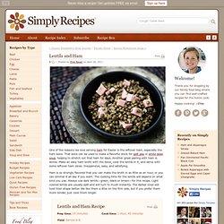 Lentils and Ham Recipe