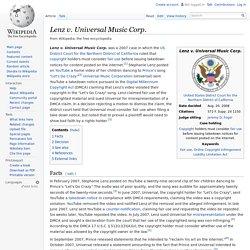 Lenz v. Universal Music Corp.