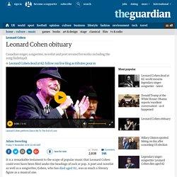 Leonard Cohen obituary