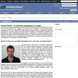 Léonard Ponteri : Un poulailler pédagogique au collège