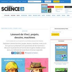 Agenda - Léonard de Vinci, projets, dessins, machines
