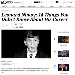 Leonard Nimoy: Things You Didn't Know About 'Star Trek' Actor's Career