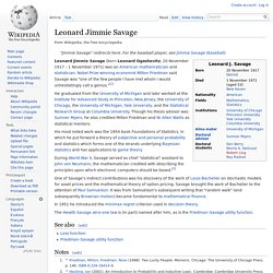 Leonard Jimmie Savage