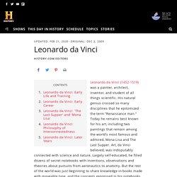 Leonardo da Vinci: Art, Family & Facts - HISTORY