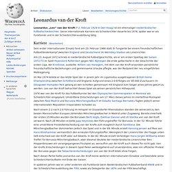 Leonardus van der Kroft