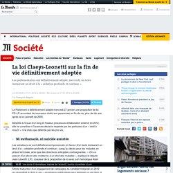 La loi Claeys-Leonetti sur la fin de vie définitivement adoptée