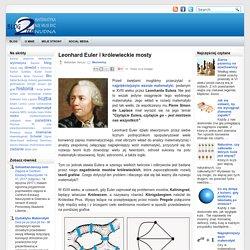 Leonhard Euler i królewieckie mosty ~ Blog 2 Pi R