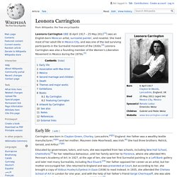 Leonora Carrington - Wikipedia