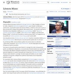 Biographie et bibliographie de Léonora Miano - Wikipedia