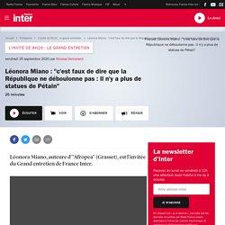 """Léonora Miano : """"c'est faux de dire que la République ne déboulonne pas : il n'y a plus de statues de Pétain"""""""