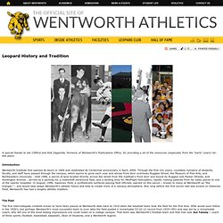 Leopard History and Tradition - Athletics