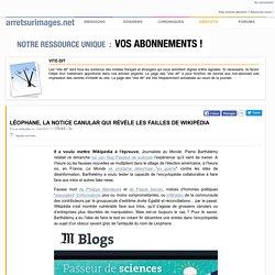 Léophane, la notice canular qui révèle les failles de Wikipédia