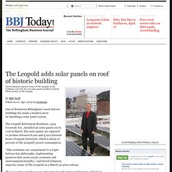 The Leopold adds solar panels on roof of historic building  | BBJ Today