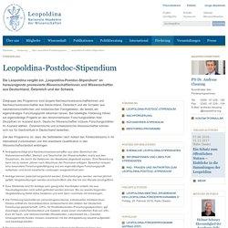 Leopoldina-Postdoc-Stipendium