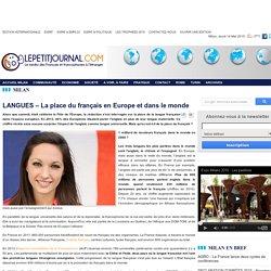 LANGUES – La place du français en Europe et dans le monde