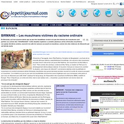 BIRMANIE – Les musulmans victimes du racisme ordinaire