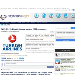EMPLOI – Turkish Airlines va recruter 2.500 personnes