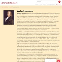 - Benjamin Constant
