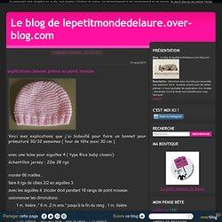 explications bonnet préma au point mousse - Le blog de lepetitmondedelaure.over-blog.com