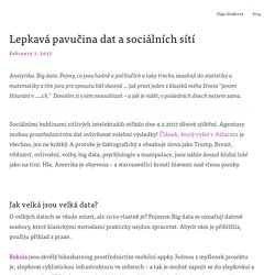 Lepkavá pavučina dat a sociálních sítí — Olga Karpecká