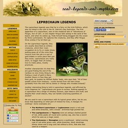 Leprechaun Legends, how to capture him and songs and poems
