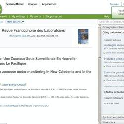 INSTITUT PASTEUR DE NOUVELLE CALEDONIE 06/09/06 La leptospirose, une zoonose sous surveillance en Nouvelle-Calédonie