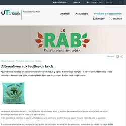 Site Asso LeRab - Alternatives aux feuilles de brick