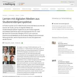 Lernen mit digitalen Medien aus Studierendenperspektive