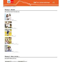 Online-Ü1 Berufe und Vorstellen -DAF im Unternehmen