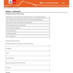 Online-Ü6 -Im Restaurant - DaF im Unternehmen