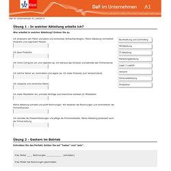Online-Ü Arbeitstag - DaF im Unternehmen A1