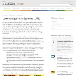Lernmanagement-Systeme (LMS)