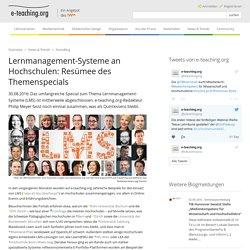 Lernmanagement-Systeme an Hochschulen: Resümee des Themenspecials