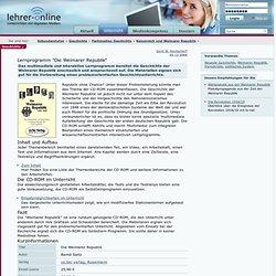 """Lernprogramm """"Die Weimarer Republik"""""""