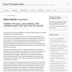 Leroy Merlin : vision co-construite, benchmark...