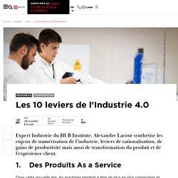 Les 10 leviers de l'Industrie 4.0
