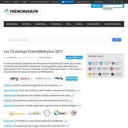 Les 10 startups FrenchWeb pour 2011