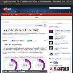 Les 10 tendances IT de 2015